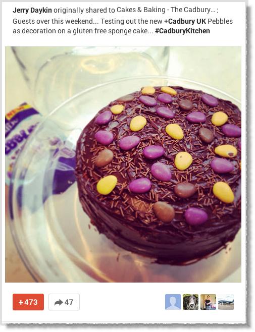 Cadbury-Google+-page