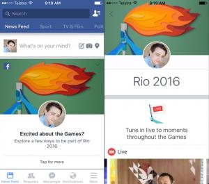 Facebook - Olimpia - Rio 2016