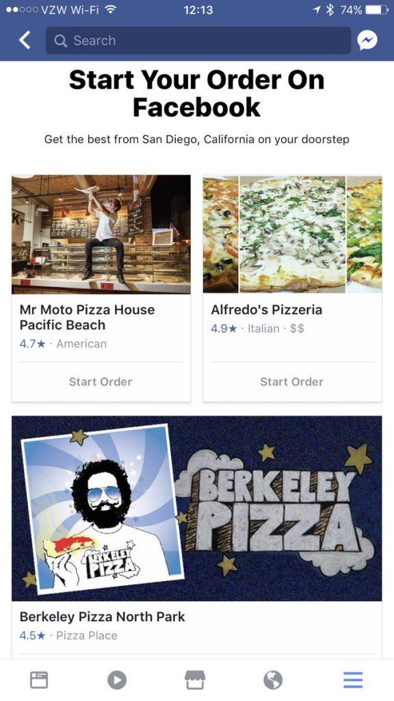 Jön az ételrendelés Facebookon?