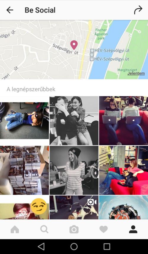 Instagram - Térkép - Geotag
