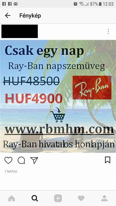 ray ban instagram virus