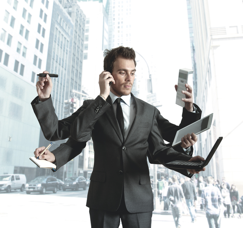 http://www.dreamstime.com/stock-photos-businessman-multitasking-image25641023