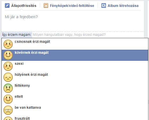 facebook-allapot