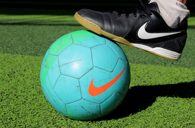 http://www.dreamstime.com/royalty-free-stock-photography-football-shoe-closeup-view-nike-brand-image39563877