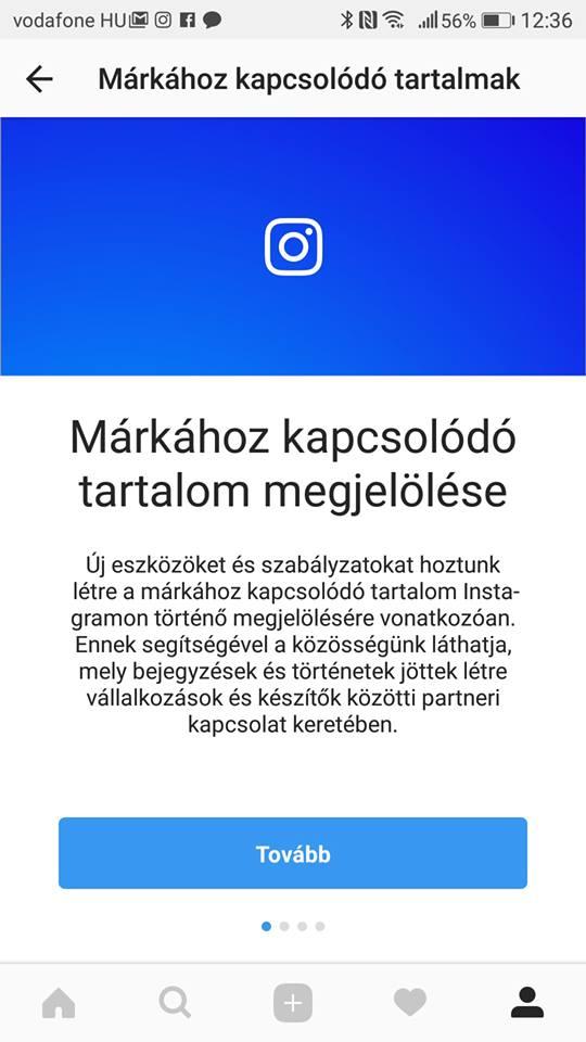 Új eszközök Instagramon a márkához kapcsolódó tartalmak ... cc6b39dffd