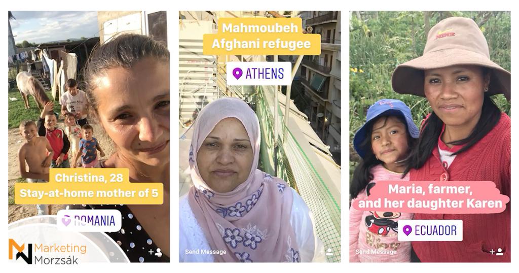 Csodálatos nonprofit kampány a nőkért Instagram Stories-ban