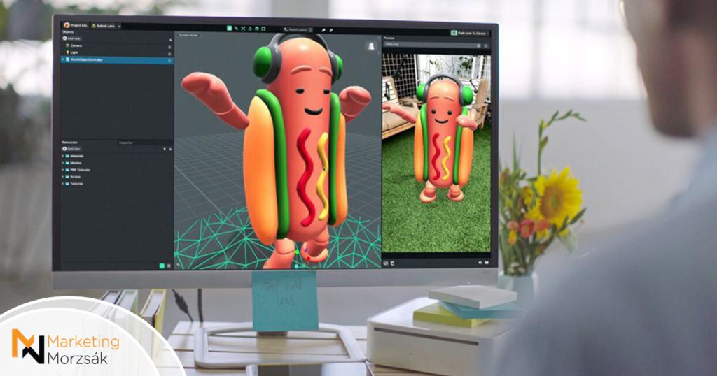 Bemutatta a Snapchat a Lens Studio-t