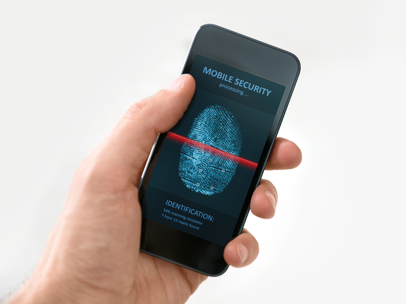 http://www.dreamstime.com/stock-images-hand-holding-smartphone-mobile-security-application-modern-phone-showing-process-scanning-fingerprint-screen-image33871184