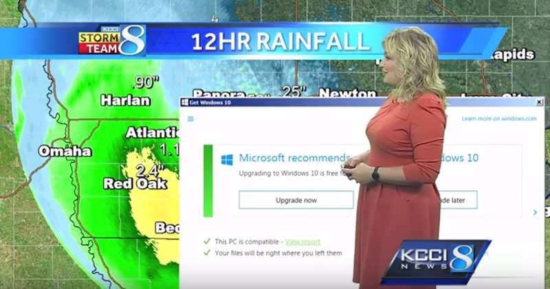 Windows 10 frissítés az időjárás jelentés közepén